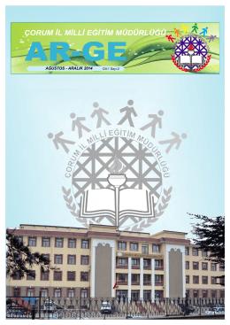 Ağustos - Aralık 2014 Dönemi ARGE Bülteni Yayınlandı. 20.01.2015