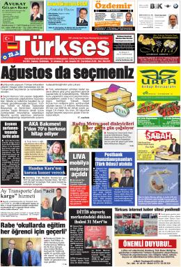 Özdemir - Türkses Gazetesi