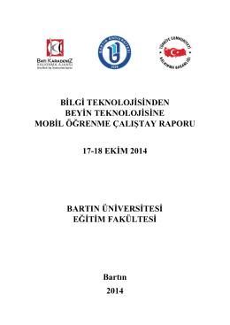 Çalıştay Sonuç Raporu - Mobil Öğrenme Çalıştayı
