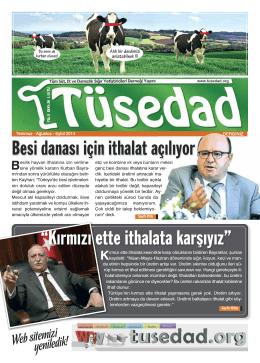 TÜSEDAD Dergisi 26. Sayı