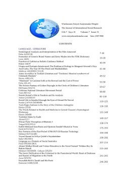 CONTENTS - Journal of International Social Research