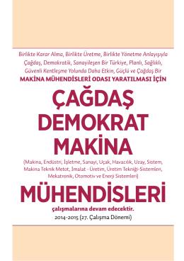 ÇAĞDAŞ DEMOKRAT MAKİNA MÜHENDİSLERİ