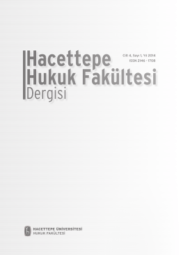 Derginin Tam Metni - Hacettepe Hukuk Fakültesi Dergisi