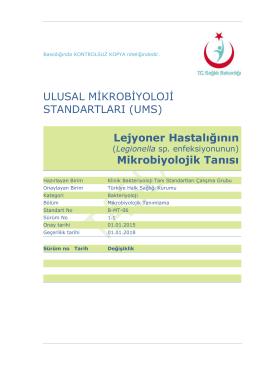 Lejyoner hastalığı - Türkiye Halk Sağlığı Kurumu