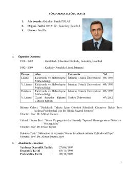 Prof.Dr.A.Burak POLAT - Beykent Üniversitesi