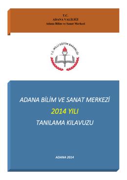 Başvuru Kılavuzu - Adana Bilim ve Sanat Merkezi