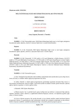 Sayfa 1 / 95 Oluşturma tarihi: 19/02/2014 MİLLÎ EĞİTİM