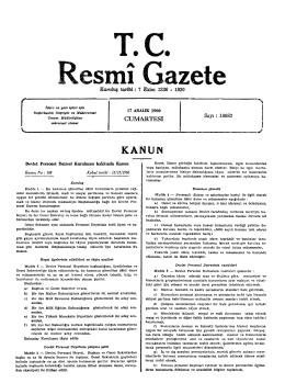 Kuruluş tarihi: 7 Ekim 1336 - 1920 CUMARTESİ