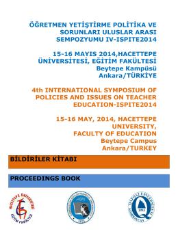 öğretmen yetiştirme politika ve sorunları uluslar arası sempozyumu