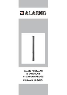 """DALGIÇ POMPALAR ve MOTORLARI 4"""" DIAMOND"""