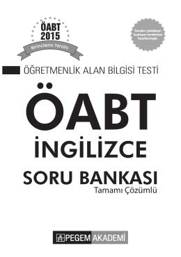 KPSS ÖABT İngilizce Tamamı Çözümlü Soru Bankası