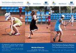 Tenis A4 Brochure