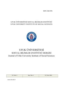 4.Sayı - Ufuk Üniversitesi