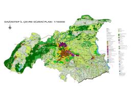 gaziantep il çevre düzeni planı 1/100000
