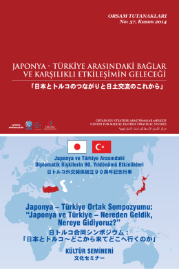 Japonya – Türkiye Ortak Sempozyumu