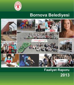 BORNOVA BELEDİYESİ 2013 FAALİYET RAPORU