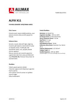 alfıx x11 - Allmax Yapı Kimyasalları