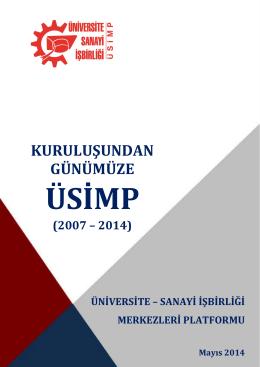 ÜSİMP 2007 2014 - Üniversite Sanayi İşbirliği Merkezleri Platformu