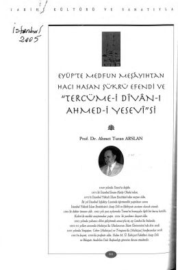 """TERCÜME-i DTVAN-1 AH M ED"