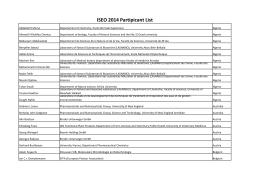 here - ISEO 2014
