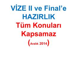 VizeIIveFinalHazırlık Aralık2014