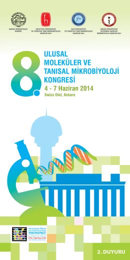 2. DUYURU - 8. Ulusal Moleküler ve Tanısal Mikrobiyoloji Kongresi
