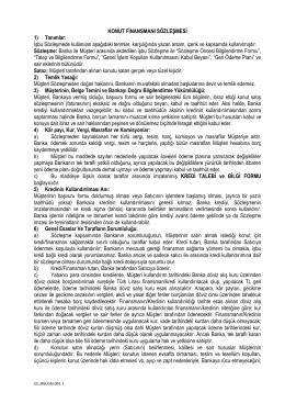 KONUT FİNANSMANI SÖZLEŞMESİ 1) Tanımlar: İşbu Sözleşmede