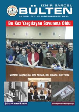 Sayı 191 - İzmir Barosu
