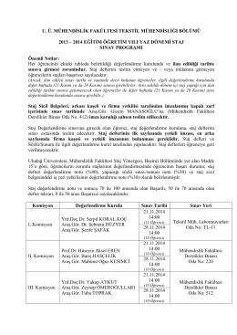 2 - Uludağ Üniversitesi Tekstil Mühendisliği