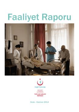 Ocak - Haziran 2014 - Çayırova Toplum Sağlığı Merkezi