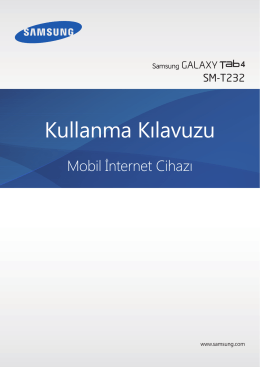 Samsung Galaxy Tab 4 7.0 (3G) Kullanım Kılavuzu