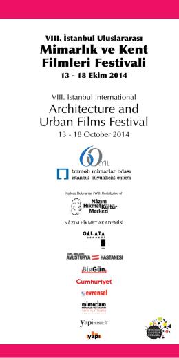 Mimarlık ve Kent Filmleri Festivali Architecture and Urban Films