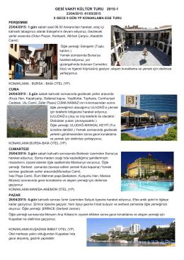 gesi vakfı kültür turu 2015-1