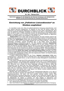 """Durchblick"" Nr. 169"