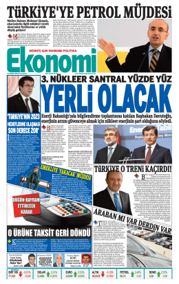 23 EKİM 2014 - Ekonomi Gazetesi