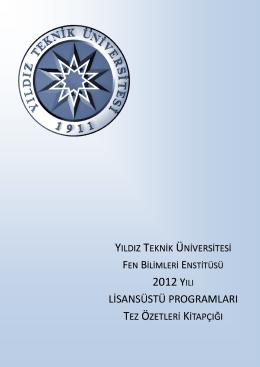 2012 YILI - Fen Bilimleri Enstitüsü