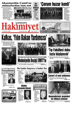 31 ocak.qxd - Çorum Hakimiyet Gazetesi