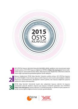 2015 ÖSYS Kılavuzu - lys 2013 terci̇h klavuzu