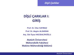 Dişli çarklar_01 - Mehmet Adem Yıldız