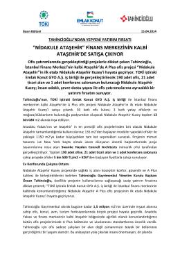 """NİDAKULE ATAŞEHİR"" FİNANS MERKEZİNİN KALBİ"