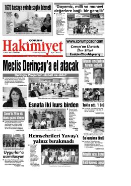 (6 eyl\374l.qxd) - Çorum Hakimiyet Gazetesi