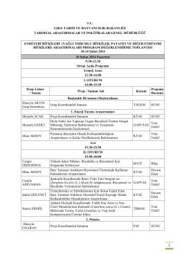 TBAD-2014 - TC Gıda Tarım ve Hayvancılık Bakanlığı