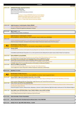 Sempozyum programını görmek için tıklayınız...(pdf sürümü)