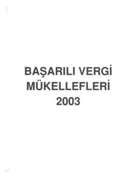 mukelleflerı 2003