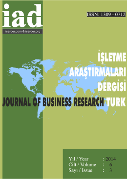 Türk - Journal Of Business Research