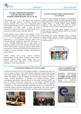 Eylül - Ekim 2014 - Enerji Verimliliği Derneği
