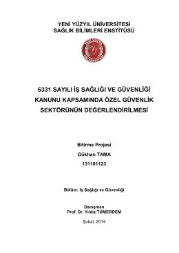 bitirme projesi Gökhan TAMA - İstanbul Yeni Yüzyıl Üniversitesi