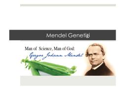 3. Mendel Genetiği.pptx - Prof. Dr. Bektaş TEPE