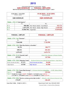 eşik değerler ve parasal limitlerin 01.02.2015