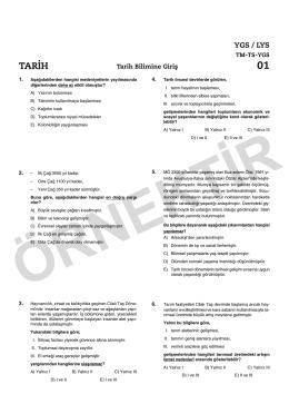 12. SINIF TARİH KONU KAVRAMA 52 TEST SON:Mizanpaj 1.qxd